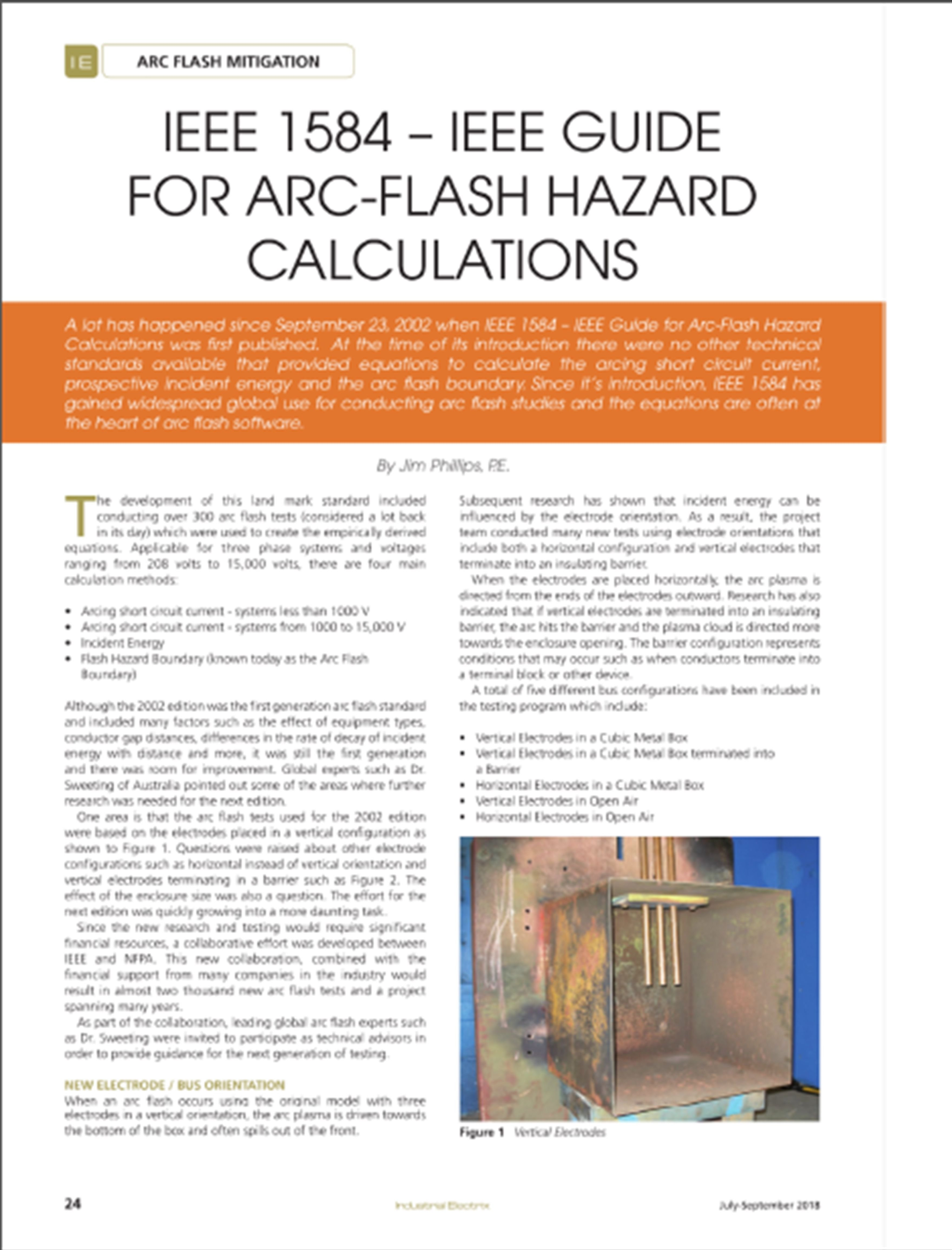 Electrical Power Arc Flash Safety Articles Above Short Circuit To Ground A Summary Of Major Changes Ieee 1584 And The Role One Australias Leading Experts