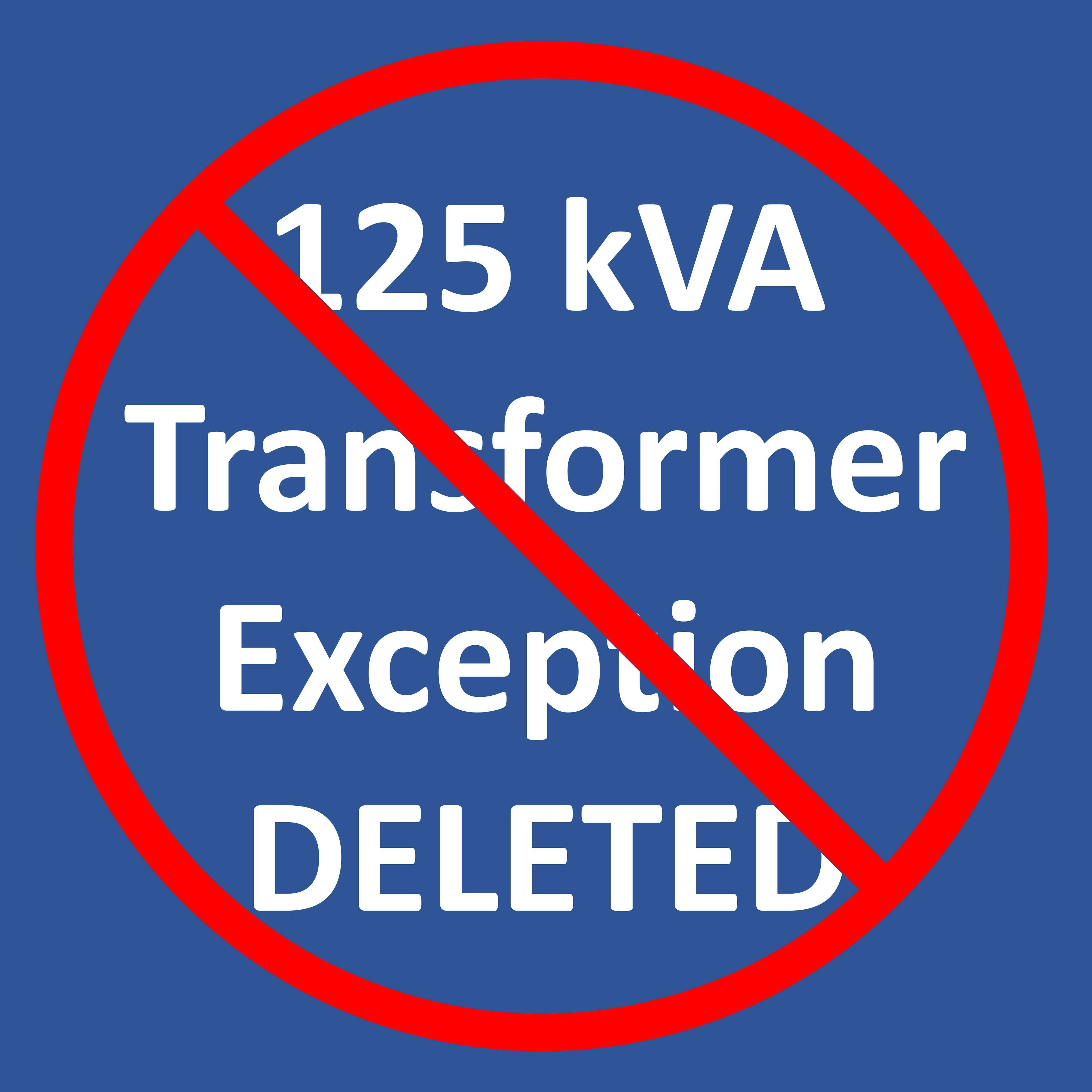 2018 IEEE 1584 - 125 kVA Transformer Exception DELETED! - Arc Flash